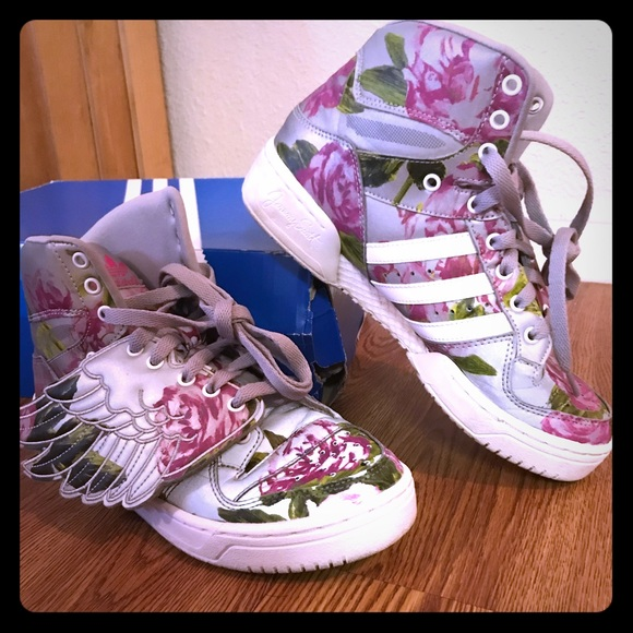 "0f836960cdbe Jeremy Scott x Adidas Shoes - Jeremy Scott ""Reflective Floral"" by Adidas"